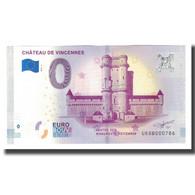 France, Billet Touristique - 0 Euro, 94/ Vincennes - Le Château De Vincennes - Frankrijk