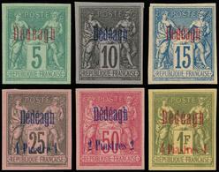 (*) DEDEAGH - Poste - 1 + 3 + 5/8, Type II, Non Dentelés Sur Papier épais (pas Tirage Sur Bristol), Complet - Dedeagh (1893-1914)