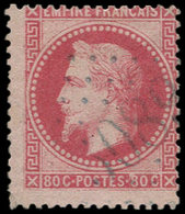 "O LEVANT FRANCAIS - Poste - France Yvert 32, Cachet Gros Chiffres Bleu ""5089"" (Jaffa): 80c. Empire - Levant (1885-1946)"