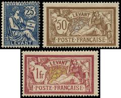 * LEVANT FRANCAIS - Poste - 24/26, Sans Surcharge, Complet, Signés Calves - Levant (1885-1946)