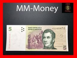 ARGENTINA 5 Pesos 2005 P. 353 Serie E  UNC - Argentina