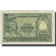Billet, Italie, 50 Lire, Undated (1951), KM:91a, TTB - 50 Liras