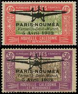 * NOUVELLE-CALEDONIE - Poste Aérienne - 1/2, Très Beaux, Signés: Paris-Nouméa - Neukaledonien