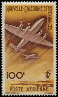 * NOUVELLE-CALEDONIE - Poste Aérienne - 62, Non émis En Jaune Orange Et Brun Lilas, Signé Brun - Neukaledonien