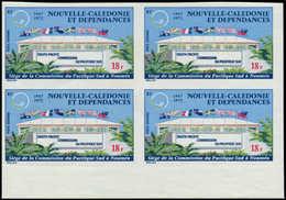 ** NOUVELLE-CALEDONIE - Poste Aérienne - 128, Bloc De 4 Non Dentelé, Bdf: 18f. Pacific Sud (Maury) - Neukaledonien