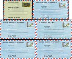 N NOUVELLE-CALEDONIE - Entiers Postaux - 7/11A, Complet, 6 Aérogrammes 1978/1986 - Neukaledonien