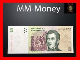 ARGENTINA 5 Pesos 2011 P. 353 Serie G  UNC - Argentine