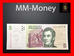 ARGENTINA 5 Pesos 2012 P. 353 Serie H  UNC - Argentina