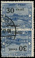 O SARRE - Poste - 75c, Paire Tête-bêche: 30c/80pf. Bleu - Saargebiet