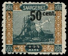 * SARRE - Poste - 77, Dentelé 10.5: 50c/1.25 - Saargebiet