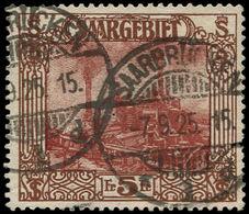 O SARRE - Poste - 100, Bel Exemplaire: 5f. Brun - Saargebiet