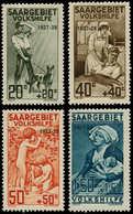 """** SARRE - Poste - 121/24, Surchargés """"1927 - 28"""": Bienfaisance 1927 - Saargebiet"""