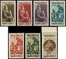 ** SARRE - Poste - 125/31, Complet, Le 10f. Bdf: Bienfaisance 1939, Madone - Saargebiet