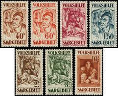 * SARRE - Poste - 141/7, Oeuvres Populaires 1931 - Saargebiet