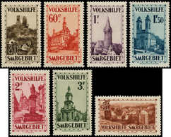 * SARRE - Poste - 155/61, Complet 7 Valeurs: Bienfaisance 1933 - Saargebiet