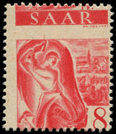 ** SARRE - Poste - 199, Piquage à Cheval: 8pf. Rouge - Saargebiet
