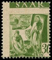 ** SARRE - Poste - 207, Piquage à Cheval: 30pf. Vert - Saargebiet