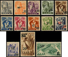 * SARRE - Poste - 216A/28A, Papier Jaune, Complet, Signés - Saargebiet