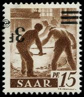 * SARRE - Poste - 220Aa, Surcharge Renversée, Signé Roumet - Saargebiet