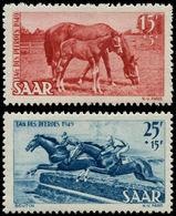 ** SARRE - Poste - 253/54, Journée Du Cheval - Saargebiet