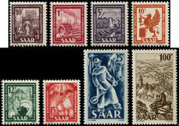 ** SARRE - Poste - 255/62, 8 Valeurs: Série Courante 1949 - Saargebiet