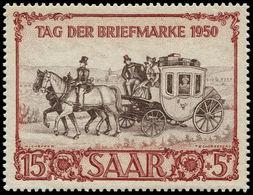 ** SARRE - Poste - 270, Journée Du Timbre 1950, Diligence - Saargebiet