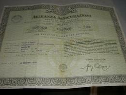 POLIZZA DI ASSICURAZIONE ALLEANZA ASSICURAZIONI 1954 - Banque & Assurance