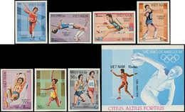 ** VIETNAM SOCIALISTE - Poste - 435/41 + Bf 7, Non Dentelés, Complet: Jeux Olympiques De Los Angeles 84 - Vietnam