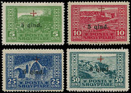 * ALBANIE - Poste - 136/39, Croix-Rouge (Michel 96/99) - Albania