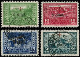 O ALBANIE - Poste - 136/39, Croix-Rouge - Albania