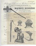 75 - Paris - PARIS-10e - Facture BOSSIERE - Fabrique De Machines Et Outils Pour Cuirs Et Peaux - 1913 - REF 288 - 1900 – 1949