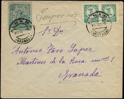 LET ESPAGNE GUERRE CIVILE NATION - Poste - Alhama Granada Ed. 1 + Divers Sur Enveloppe 27/11/38 - Vignette Della Guerra Civile