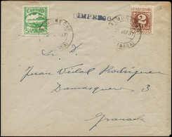 LET ESPAGNE GUERRE CIVILE NATION - Poste - Almunecar Ed. 5, Sur Enveloppe 28/9/37: 5c. Vert - Vignette Della Guerra Civile
