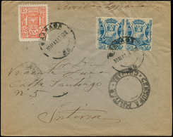 LET ESPAGNE GUERRE CIVILE NATION - Poste - Granada Ed. 37 (paire Non Dentelée) + 206, Sur Enveloppe 30/5/37 - Vignette Della Guerra Civile