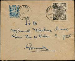 LET ESPAGNE GUERRE CIVILE NATION - Poste - Granada Ed. 212 + 36, Sur Enveloppe 24/4/38 - Vignette Della Guerra Civile