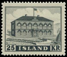 * ISLANDE - Poste - 238, Parlement 25kr. Noir - Islande