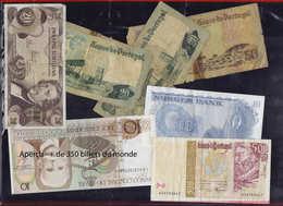 LOT MONDE - Billets - Collection En Un Album + Une Pochette De +350 Billets Du Monde 1930 - 1980, Qualité Mélangée, Dont - Postzegels