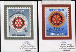 MAQ BANGLADESH - Poste - 138/39, 2 Maquettes Originales, Gouache (90x70), Types Non Adoptés: Rotary - Uniques - - Bangladesh