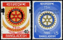 ** BANGLADESH - Poste - 244/45, Surcharge Renversée: Rotary - Bangladesh