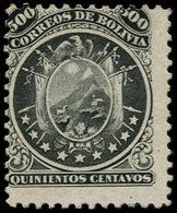 """(*) BOLIVIE - Poste - 13, Bel Exemplaire, Signé Brun: 500c. """"9 étoiles"""" - Bolivie"""