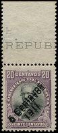 ** BOLIVIE - Poste - 91, Double Surcharge, Bdf: 20c. Santa Cruz - Bolivie