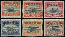 * BOLIVIE - Poste Aérienne - 3A/3F, Complet 6 Valeurs: Graf Zeppelin - Bolivie