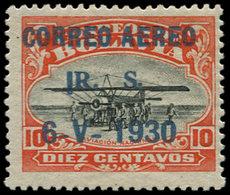 """* BOLIVIE - Poste Aérienne - 3B, Variété """"1"""" Devant """"RS"""": 10c. Zeppelin - Bolivie"""