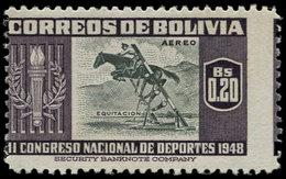 ** BOLIVIE - Poste Aérienne - 127, Piquage à Cheval: 20c. Hippisme - Bolivie