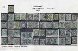 N/O BOLIVIE - Lots & Collections - Emission Condor 1867/68, Exceptionnelle Collection De Reconstitution Des Différentes  - Bolivie