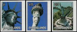 ** COOK - Poste - 861/63, Non Dentelés, Bdf (tirage 150): Statue De La Liberté - Cook