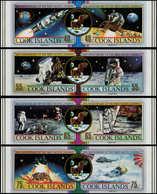 ** COOK - Poste - 986/93, Se Tenant Non Dentelé (tirage 150): Apollo XI, Hélicoptère - Cook