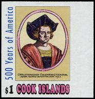 ** COOK - Poste - 1018, Non Dentelé Bdf (tirage 150): C. Colomb - Cook
