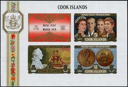 ** COOK - Blocs Feuillets - 7, Non Dentelé (tirage 100): Visite Royale, James Cook - Cook