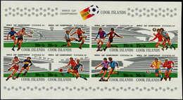 ** COOK - Blocs Feuillets - 116, Feuillet Non Dentelé (50 Connus): Football Espana 82 - Cook